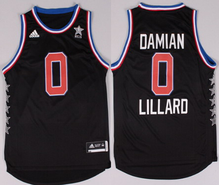 2015 NBA Western All-Stars #0 Damian Lillard Revolution 30 Swingman Black Jersey
