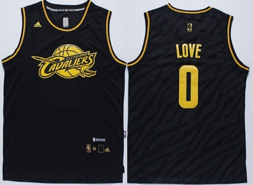 2510c08c10c ... Cleveland Cavaliers 0 Kevin Love Revolution 30 Swingman 2014 Black With  Gold Jersey ...