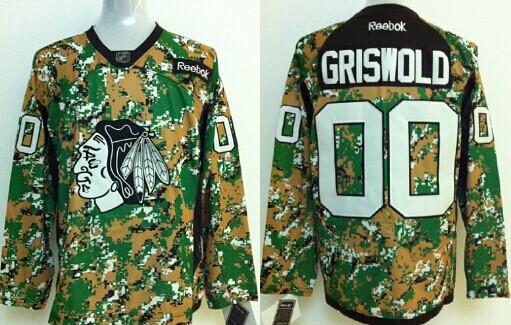 cab9abbd8 chicago blackhawks 00 clark griswold 2014 camo jersey