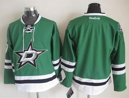 Dallas Stars Blank 2013 Green Jersey