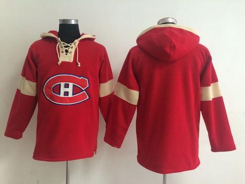 2014 Old Time Hockey Montreal Canadiens Blank Red Hoodie
