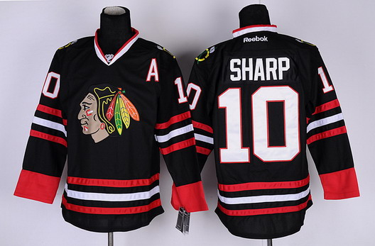 chicago blackhawks 10 patrick sharp black jersey