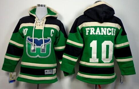 Old Time Hockey Hartford Whalers #10 Ron Francis Black Kids Hoodie