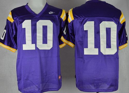 LSU Tigers #10 Anthony Jennings Purple Jersey