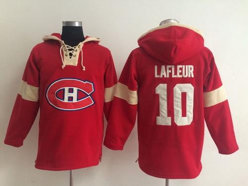 2014 Old Time Hockey Montreal Canadiens #10 Guy Lafleur Red Hoodie