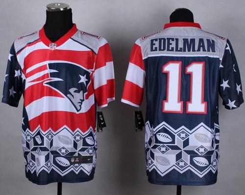 Nike New England Patriots  11 Julian Edelman 2015 Noble Fashion Elite Jersey be65862af