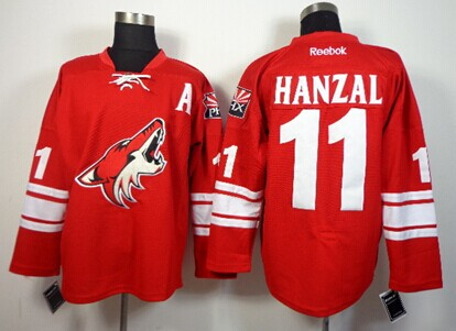 Phoenix Coyotes #11 Martin Hanzal Red Jersey