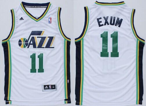 ... Utah Jazz 11 Dante Exum Revolution 30 Swingman White Jersey Mens Adidas  ... e48b3a9d2