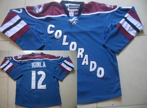 d0625840e9f Colorado Avalanche 12 Jarome Iginla Blue Third Jersey .