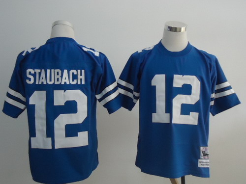 sports shoes 91e61 f3c15 dallas cowboys 12 roger staubach light blue throwback jersey