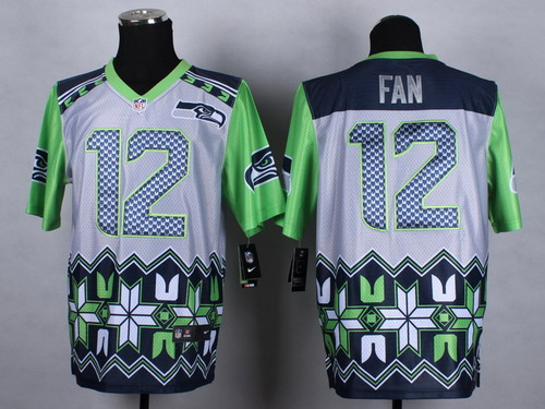 Nike Seattle Seahawks #12 Fan 2015 Noble Fashion Elite Jersey