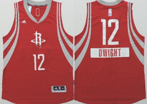 ... Houston Rockets 12 Dwight Howard Revolution 30 Swingman 2014 Christmas  Day Red Jersey ... 3ac8463c6