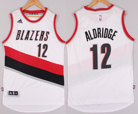 quality design ed1e6 f7bd7 ... Portland Trail Blazers 12 LaMarcus Aldridge Revolution 30 Swingman 2014  New White Jersey NBA ...