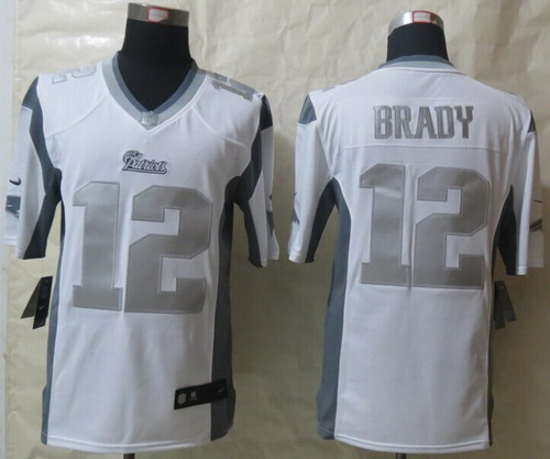 f02baecd0 ... closeout nike new england patriots 12 tom brady platinum white limited  jersey 401bc 0f14a