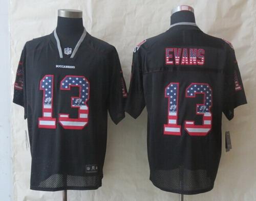 98150f46bf2 Nike Tampa Bay Buccaneers #13 Mike Evans 2014 USA Flag Fashion Black Elite  Jersey