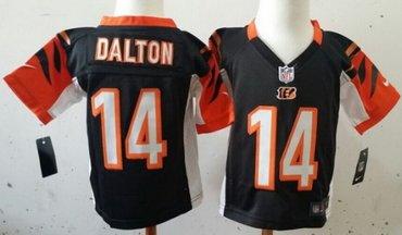 Nike Cincinnati Bengals #14 Andy Dalton Black Toddlers Jersey