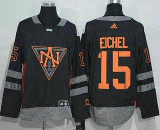 Men's North America Hockey #15 Jack Eichel Black 2016 World Cup of Hockey Stitched adidas WCH Game Jersey