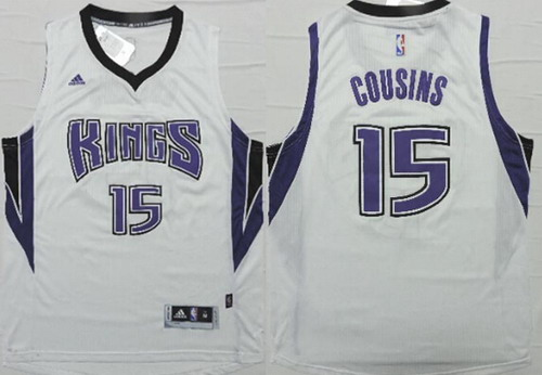 ... Sacramento Kings 15 DeMarcus Cousins Revolution 30 Swingman 2014 New  White Jersey ... 4136c345c