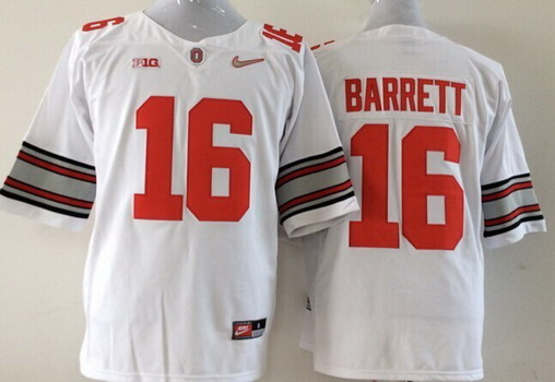 ... Ohio State Buckeyes 16 J.T. Barrett 2015 Playoff Rose Bowl Special  Event Diamond Quest White ... fa31614d2