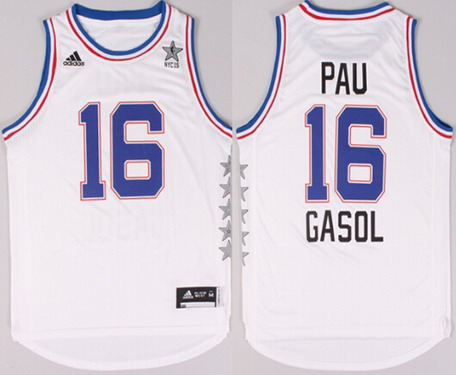 2015 NBA Eastern All-Stars #16 Pau Gasol Revolution 30 Swingman White Jersey