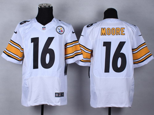Nike Pittsburgh Steelers  16 Lance Moore White Elite Jersey on sale ... 944ff0beb