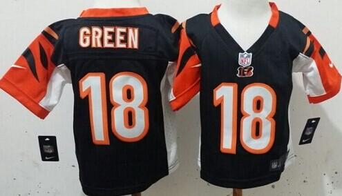 Nike Cincinnati Bengals #18 A.J. Green Black Toddlers Jersey