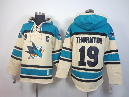 ... Old Time Hockey San Jose Sharks 19 Joe Thornton Cream Hoodie ... 9cd9b4175