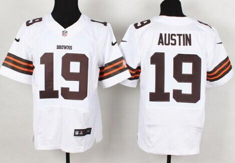 c2899e88002 Nike Cleveland Browns #2 Johnny Manziel White Elite Jersey on sale ...