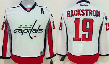 d83093c46 ... Washington Capitals 19 Nicklas Backstrom White Kids Jersey Köpa Billiga  Barn NHL Washington Capitals Tröja Braden Holtby 70 ...