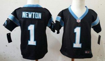 Nike Carolina Panthers #1 Cam Newton Black Toddlers Jersey