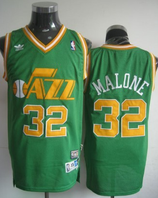 nba jerseys utah jazz 32 karl malone swingman green jerseys new stuff c4e25a7ba