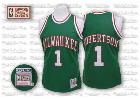 e577cbc2912 milwaukee bucks 1 oscar robertson green swingman throwback jersey
