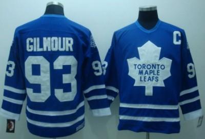 311457de8 toronto maple leafs 93 doug gilmour blue with white throwback ccm jersey