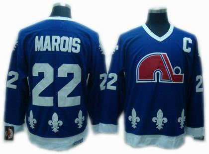 Quebec Nordiques #22 Mario Marois Navy Blue Throwback CCM Jersey