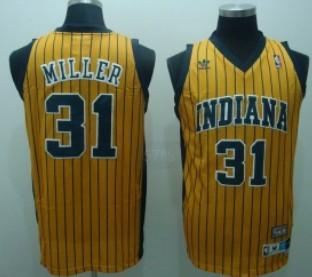 4ef8aa330 ... NBA Jerseys Indiana Pacers 31 Reggie Miller Yellow Pinstripe Swingman  Throwback Jersey ...