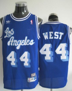 ... Los Angeles Lakers 44 Jerry West Blue Swingman Throwback Jersey ...