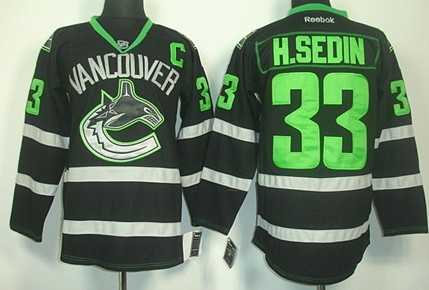 vancouver canucks 33 henrik sedin black ice jersey alexandre burrows