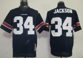 Auburn Tigers #34 Bo Jackson Navy Blue Jersey