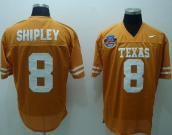 Texas Longhorns #8 Shipley Orange Jersey