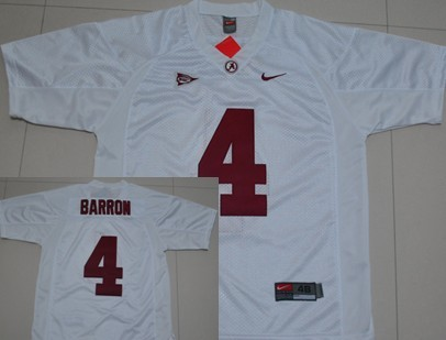 b09a36ec5 ... Authentic NCAA Jersey Alabama Crimson Tide 4 Marquis Maze Red Jersey  Alabama Crimson Tide 4 Mark Barron White Jersey ...