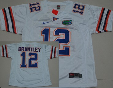 Florida Gators #12 John Brantley White Jersey