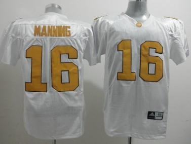Tennessee Volunteers #16 Peyton Manning White Jersey