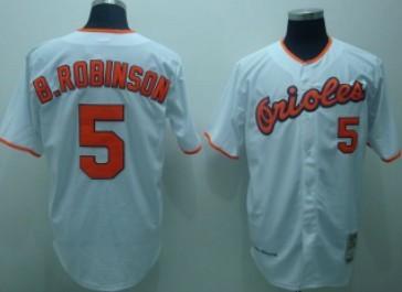 1e32be2fdf9 ... Baseball Jersey Baltimore Orioles 5 Brooks Robinson White Throwback  Jersey ...