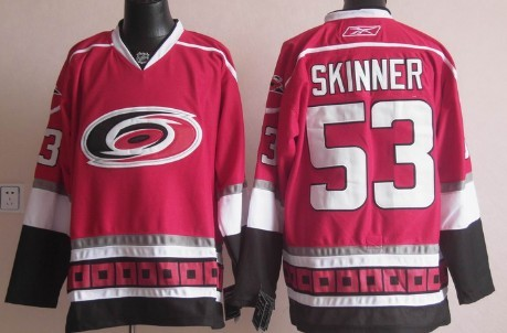 Carolina Hurricanes #53 Jeff Skinner Red Third Jersey