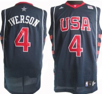 2004 olympics team usa 4 allen iverson navy blue swingman jersey 1b438c96d