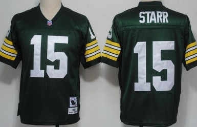 cheap for discount d286e 0a763 green bay packers 15 bart starr white long sleeved throwback ...