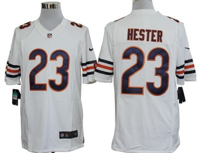 Nike Chicago Bears  23 Devin Hester White Limited Jersey on sale ed4bcce3e