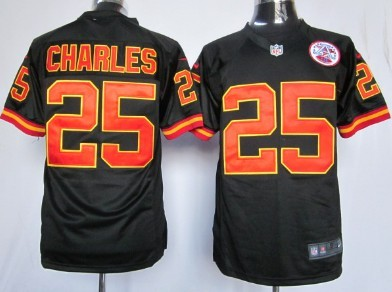 super popular a75fb 58a8c nike kansas city chiefs 25 jamaal charles 2014 pro bowl gray ...
