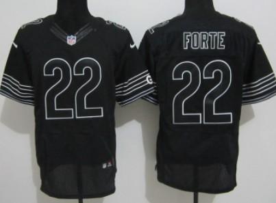 nike chicago bears 22 matt forte black elite jersey womens nike chicago bears 15 brandon marshall