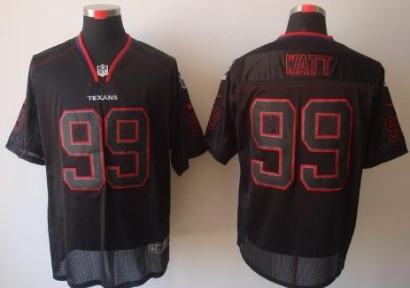 Nike Houston Texans  99 J.J. Watt Lights Out Black Elite Jersey on ... 984a76291